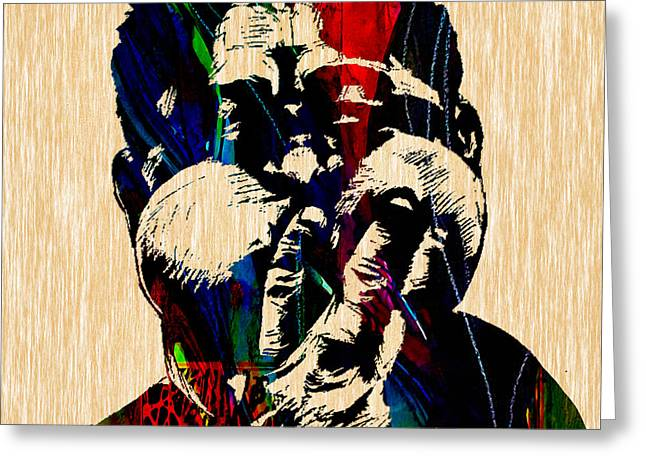 Dizzy Mixed Media Greeting Cards - Dizzy Gillespie Collection Greeting Card by Marvin Blaine
