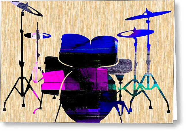 Drum Set Greeting Cards - Drums Greeting Card by Marvin Blaine