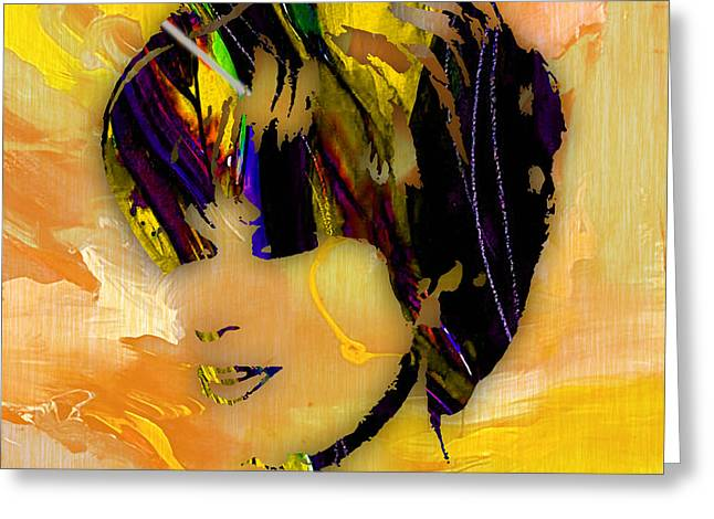 Dusty Springfield Collection Greeting Card by Marvin Blaine