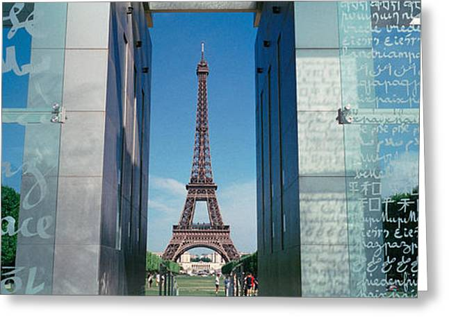 Famous Cities Greeting Cards - Eiffel Tower Paris France Greeting Card by Panoramic Images
