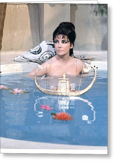 Cleopatra Greeting Cards - Elizabeth Taylor in Cleopatra  Greeting Card by Silver Screen