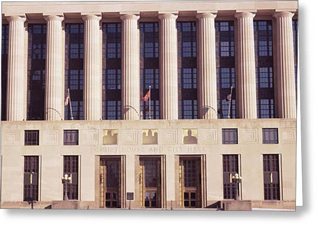Nashville Tennessee Greeting Cards - Facade Of A Government Building Greeting Card by Panoramic Images