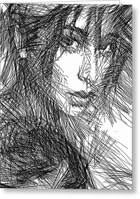 Expresion Greeting Cards - Facial Expressions Greeting Card by Rafael Salazar