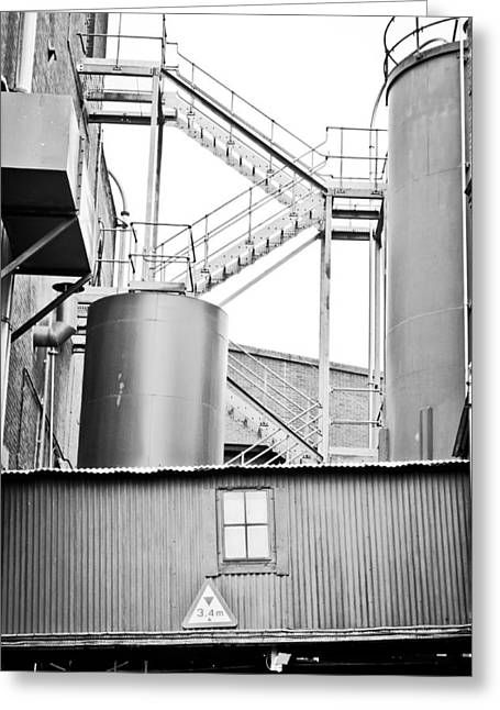 Refineries Greeting Cards - Factory Greeting Card by Tom Gowanlock