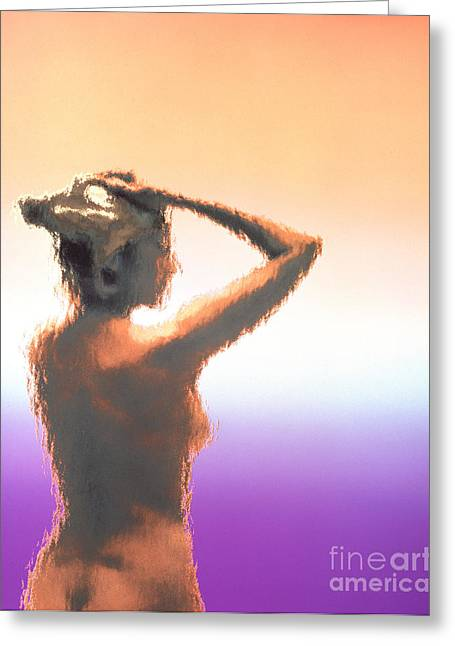 Female Body Greeting Cards - Female Figure Greeting Card by Bill Longcore