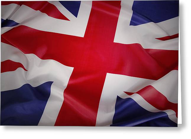 British Flag Greeting Cards - Flag Greeting Card by Les Cunliffe