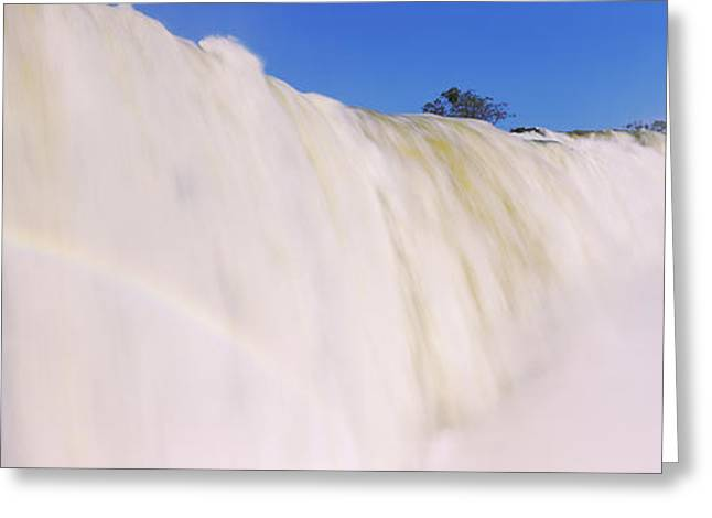 Floods Greeting Cards - Floodwaters At Iguacu Falls, Brazil Greeting Card by Panoramic Images