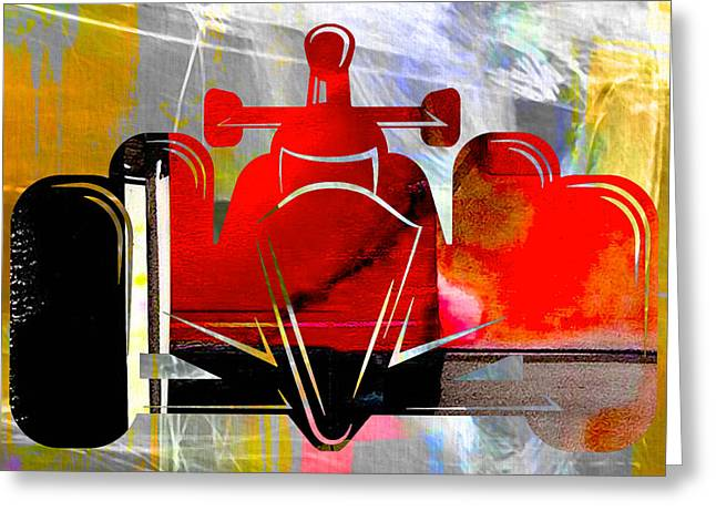Formula One Greeting Cards - Formula One Race Car Greeting Card by Marvin Blaine