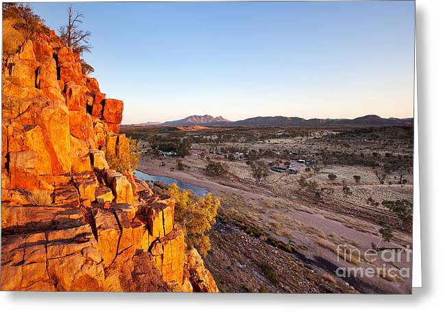 Mcdonnell Greeting Cards - Glen Helen Gorge Greeting Card by Bill  Robinson