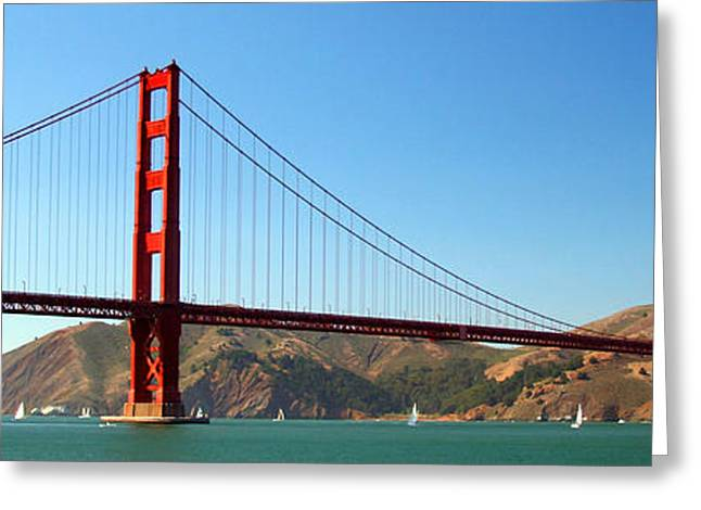 Marin County Greeting Cards - Golden Gate Bridge Greeting Card by Celso Diniz