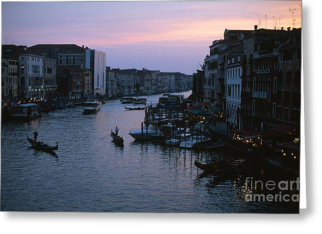 Italian Sunset Greeting Cards - Grand Canal Greeting Card by Chris Selby
