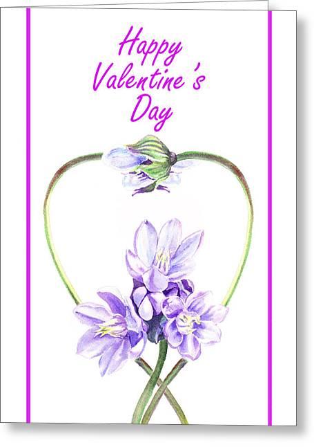 Purples Greeting Cards - Happy Valentines Day Greeting Card by Irina Sztukowski