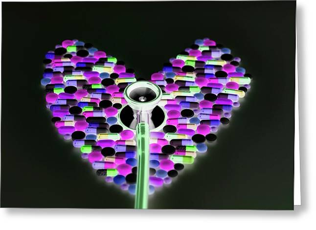 Healthcare Abstract Greeting Card by Tek Image