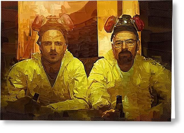 Breaking Bad Art Greeting Cards - Heisenberg Poster Greeting Card by Victor Gladkiy