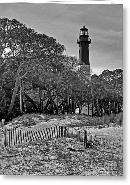 Ocean Art Photos Greeting Cards - Hunting Island Lighthouse Greeting Card by Skip Willits