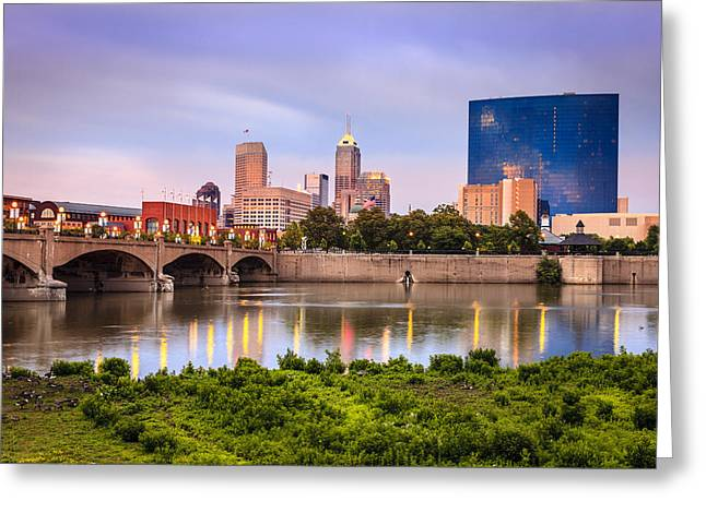 White River Greeting Cards - Indianapolis Greeting Card by Alexey Stiop