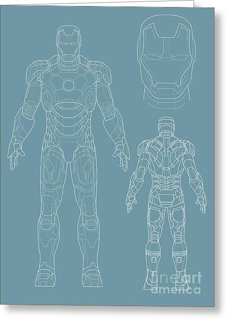 Iron Man Greeting Card by Unknow