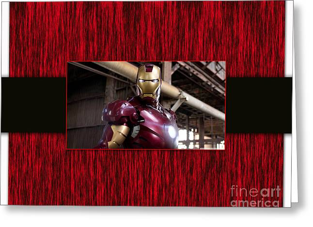 Superheroes Greeting Cards - Iron Man Greeting Card by Marvin Blaine