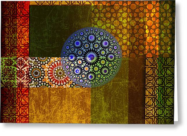 Calligraphy Art Print Greeting Cards - Islamic Motives Greeting Card by Corporate Art Task Force