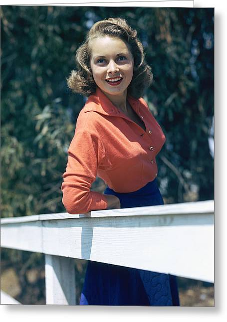 Janet Greeting Cards - Janet Leigh Greeting Card by Silver Screen