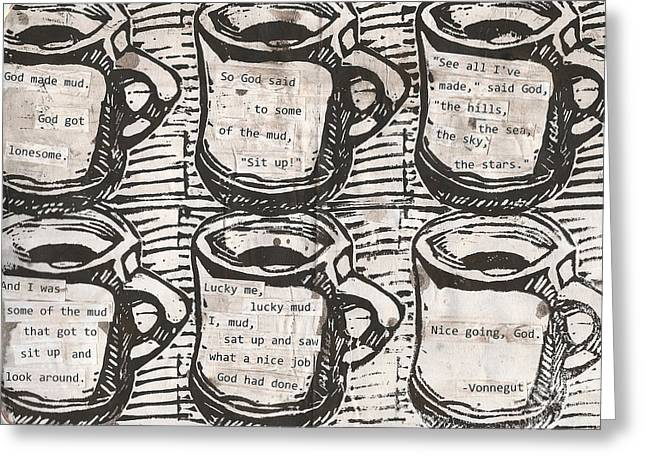 Recently Sold -  - Lino Greeting Cards - Java Greeting Card by William Cauthern