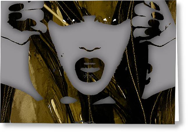 British Celebrities Greeting Cards - Jessie J Collection Greeting Card by Marvin Blaine
