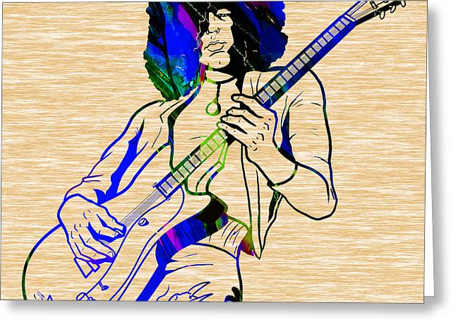 Page Greeting Cards - JImmy Page Collection Greeting Card by Marvin Blaine