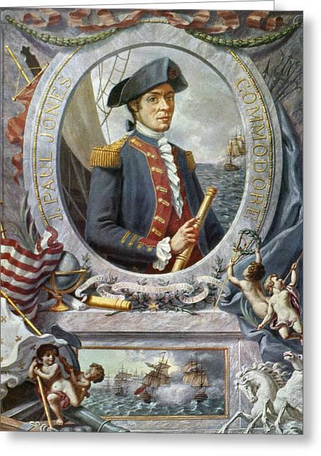 Gouache Photographs Greeting Cards - John Paul Jones (1747-1792) Greeting Card by Granger