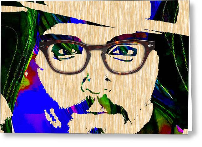 Actor Greeting Cards - Johnny Depp Collection Greeting Card by Marvin Blaine