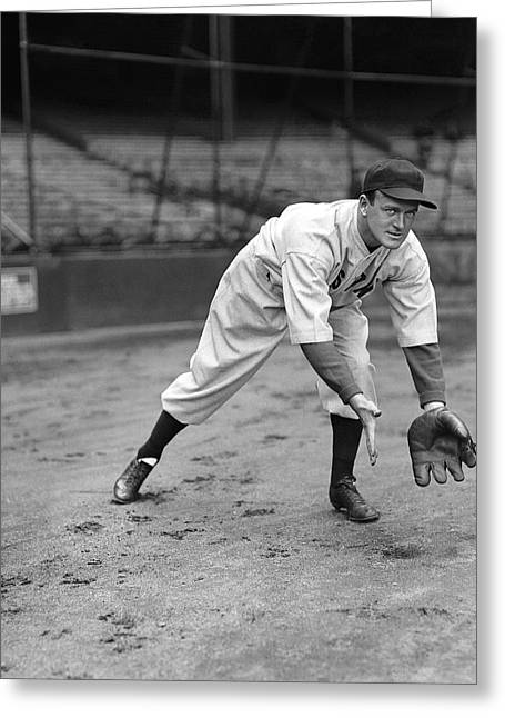 Hall Of Fame Baseball Players Greeting Cards - Joseph E. Joe Cronin Greeting Card by Retro Images Archive