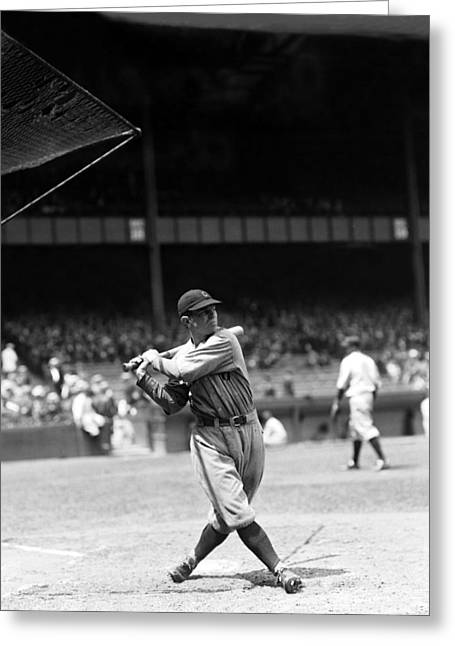 Cleveland Indians Stadium Greeting Cards - Joseph W. Joe Sewell Greeting Card by Retro Images Archive