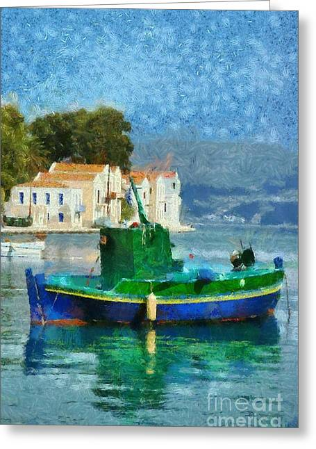 Dodekanissos Greeting Cards - Kastellorizo island Greeting Card by George Atsametakis