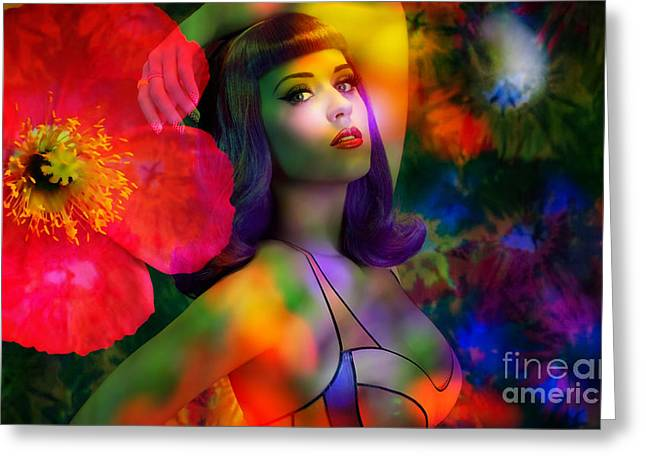 Blues Greeting Cards - Katy Perry Greeting Card by Marvin Blaine