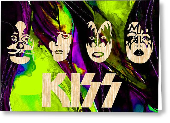 Rock And Roll Greeting Cards - Kiss Collection Greeting Card by Marvin Blaine