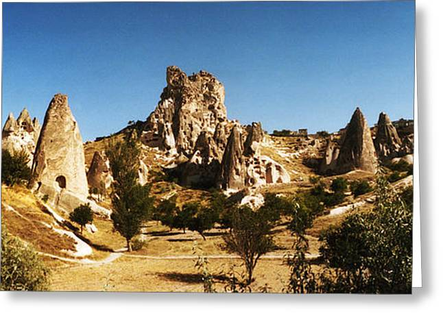 Anatolia Greeting Cards - Landscape With The Caves And Fairy Greeting Card by Panoramic Images