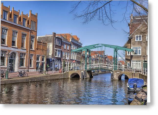 Draw Bridge Greeting Cards - Leiden Greeting Card by Joana Kruse