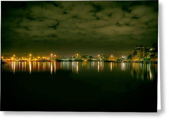 Sailboat Photos Greeting Cards - Lights of the Harbor Greeting Card by Mountain Dreams