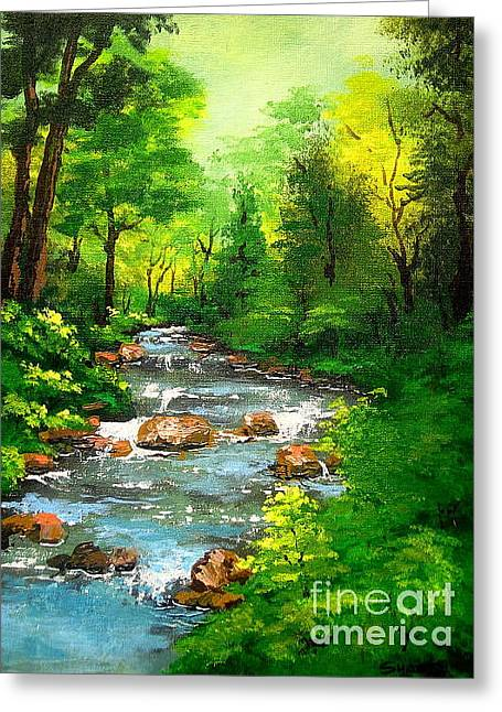 Disney Artist Greeting Cards - Lithia  Park  Greeting Card by Shasta Eone