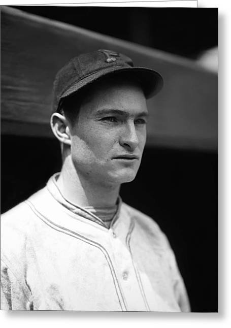 Baseball Uniform Greeting Cards - Lloyd J. Waner Greeting Card by Retro Images Archive