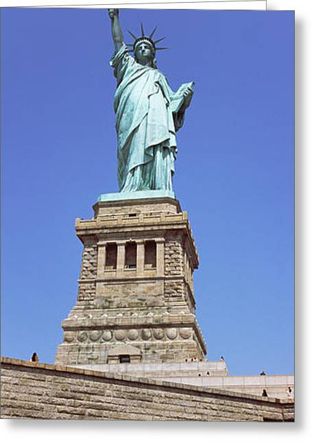 Neo Greeting Cards - Low Angle View Of A Statue, Statue Of Greeting Card by Panoramic Images