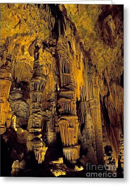 Cavern Greeting Cards - Luray Caverns Greeting Card by Mark Newman