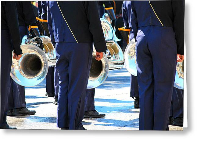 Marching Band Greeting Cards - Marching band. Greeting Card by Oscar Williams
