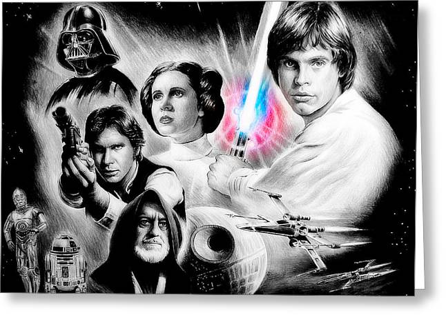 Heat Mixed Media Greeting Cards - May the force be with you Greeting Card by Andrew Read