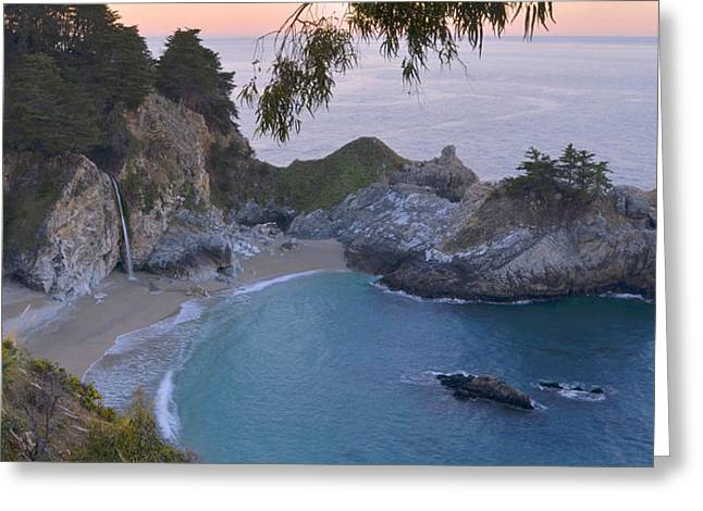 Big Sur California Greeting Cards - McWay Falls - Big Sur Greeting Card by Stephen  Vecchiotti