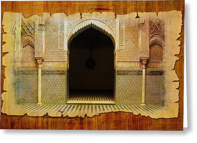 Rabat Greeting Cards - Medina of Faz Greeting Card by Catf