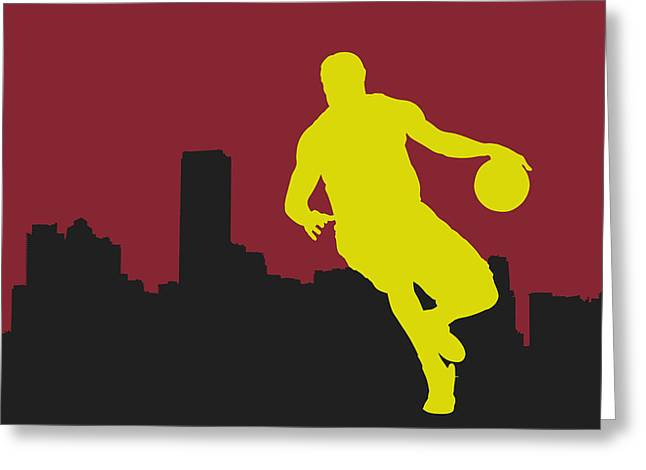 Lebron Photographs Greeting Cards - Miami Heat Greeting Card by Joe Hamilton