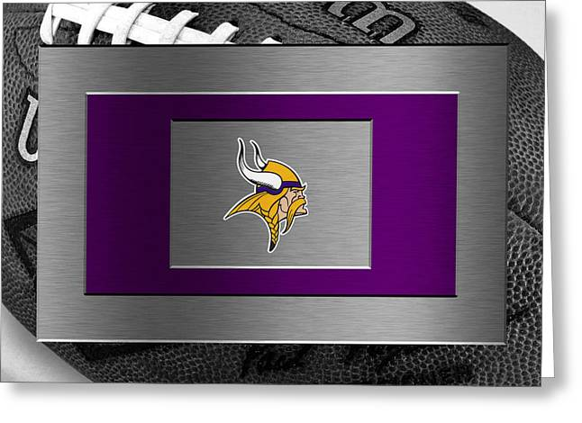 Offense Greeting Cards - Minnesota Vikings Greeting Card by Joe Hamilton