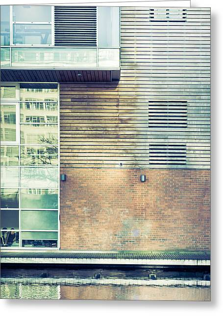 Office Space Photographs Greeting Cards - Modern building Greeting Card by Tom Gowanlock