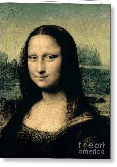 Davinci Greeting Cards - Mona Lisa Greeting Card by Leonardo Da Vinci