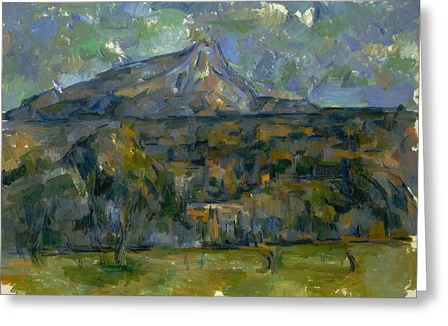 Victoire Paintings Greeting Cards - Mont Sainte-Victoire Greeting Card by Paul Cezanne